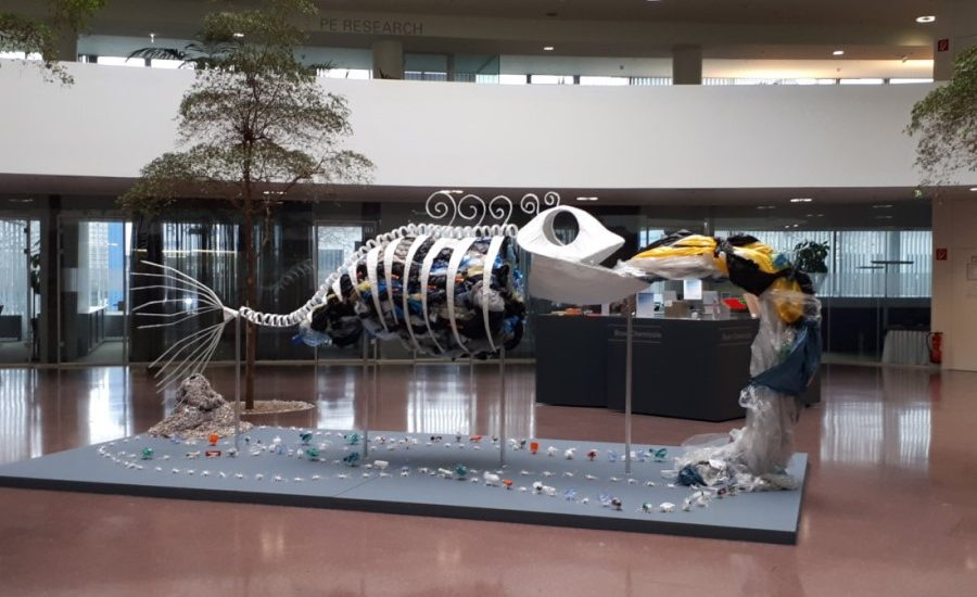 Borealis art display to generate awareness of plastic pollution