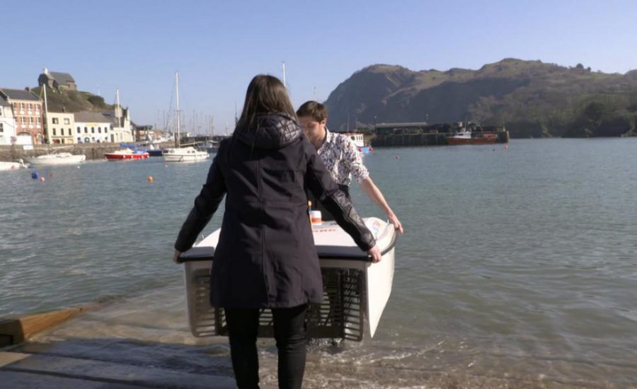 WasteShark snaps up plastic waste in Ilfracombe Harbour