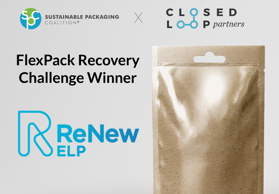 ReNew ELP scoop FlexPack Recovery Challenge prize with CAT-HTR innovation