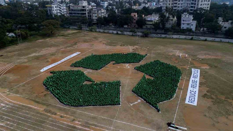 Biodegradable plastics highlighted in world record attempt to create recycling logo