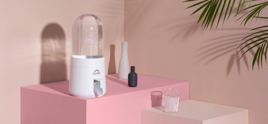 evian bursts the bubble of plastic pollution with in-home (re)new appliance