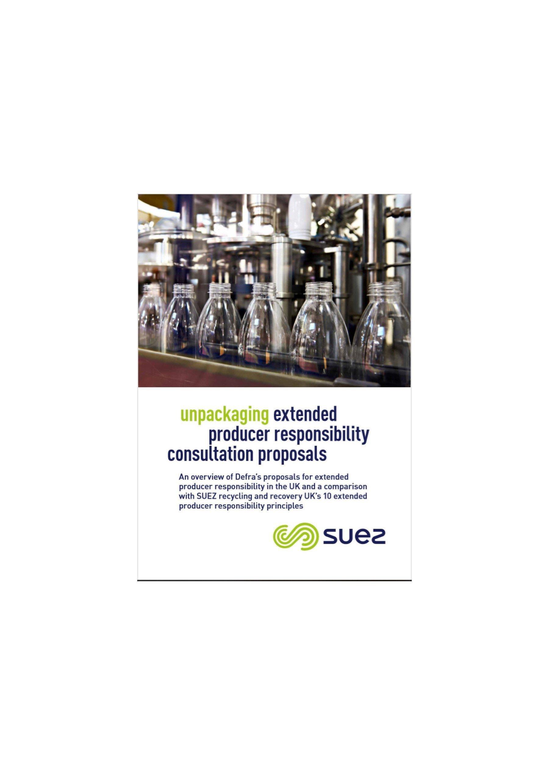 SUEZ publishes review of Defra producer-responsibility proposals
