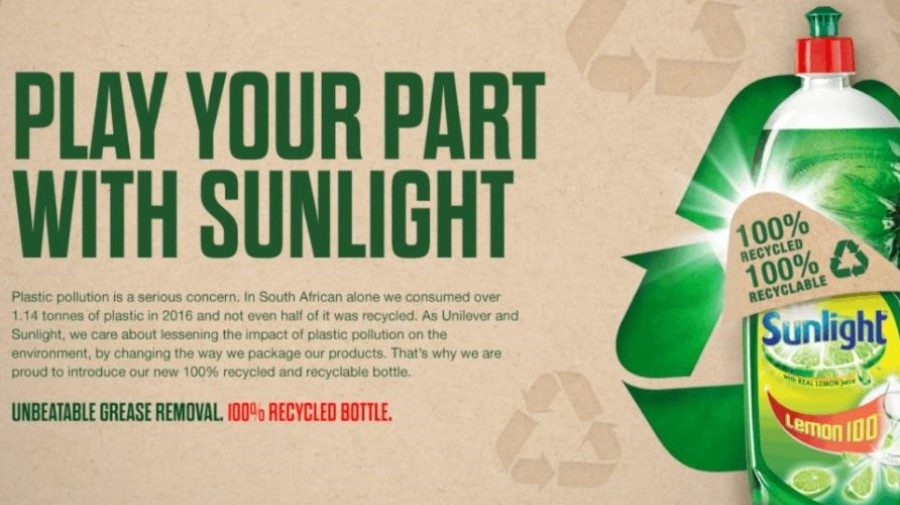 Sunlight cleans up its act with recycled and recyclable bottle launch