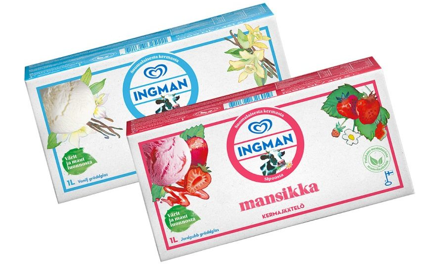Unilever switches Ingman ice cream to fully renewable packaging material from Stora Enso