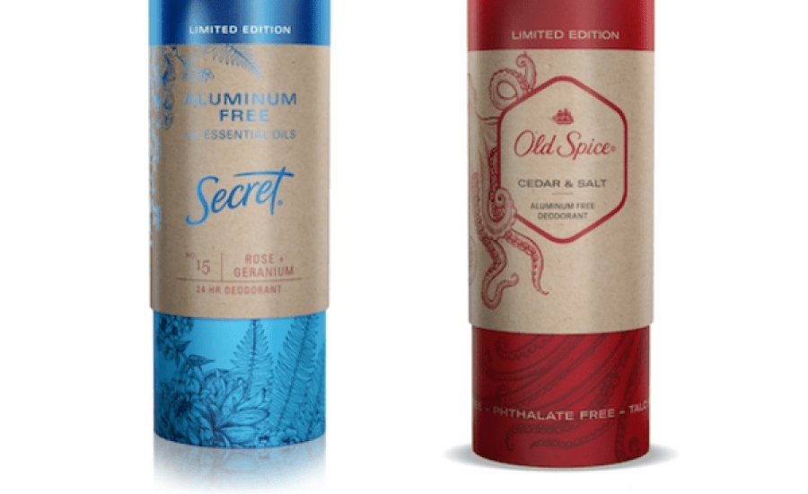 P&G introduces paper tubes for 'Secret' and 'Old Spice' as CPG makers turn away from plastic